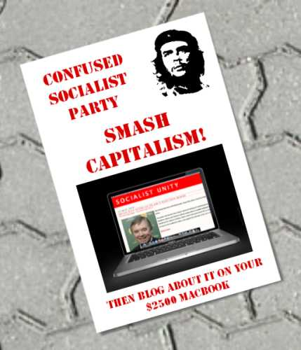 confused socialist party smash capitalism then blog about it