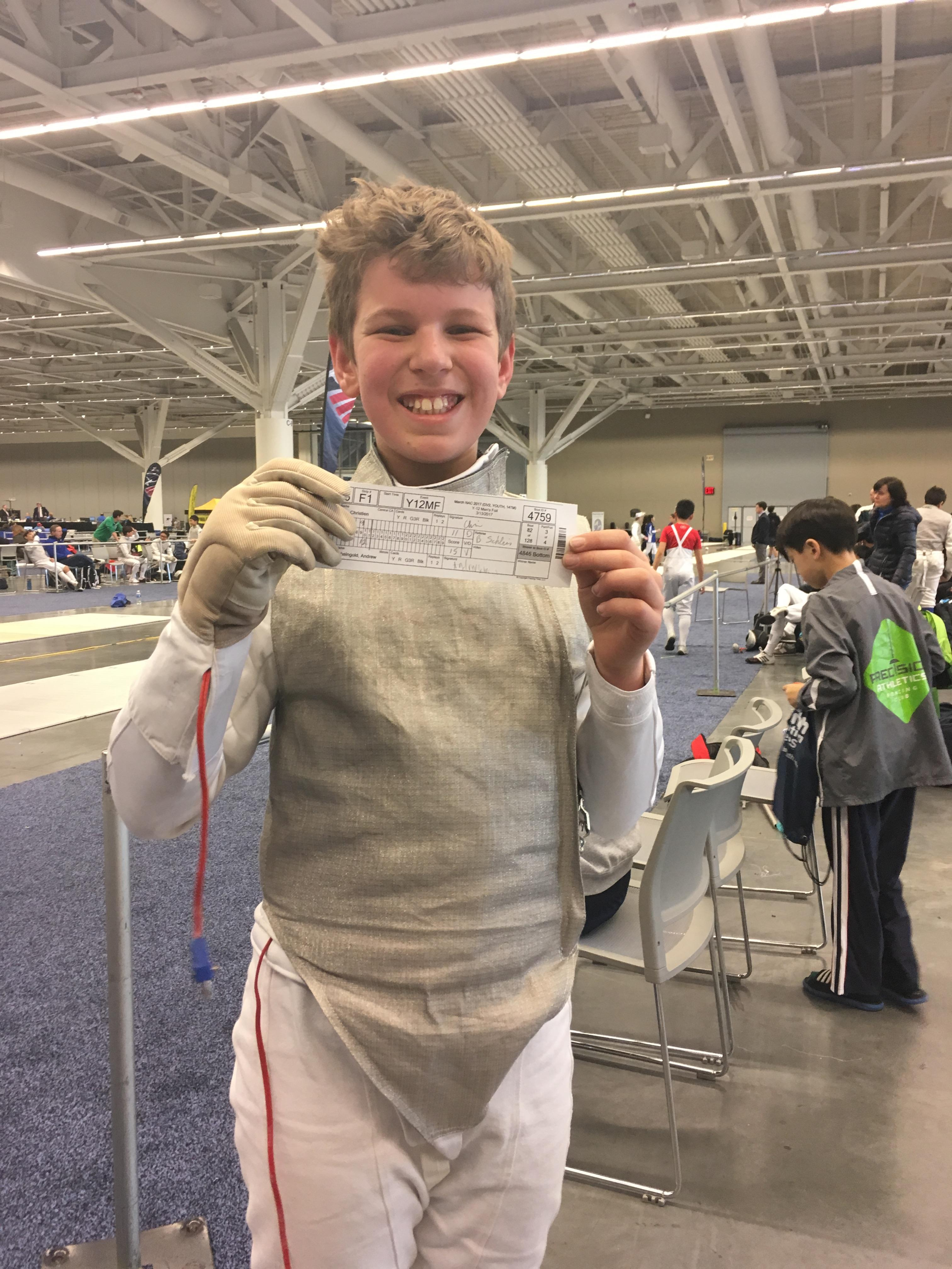 My first DE won at a national tournament in Cleveland